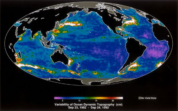 Variability of Ocean Dynamic Topography