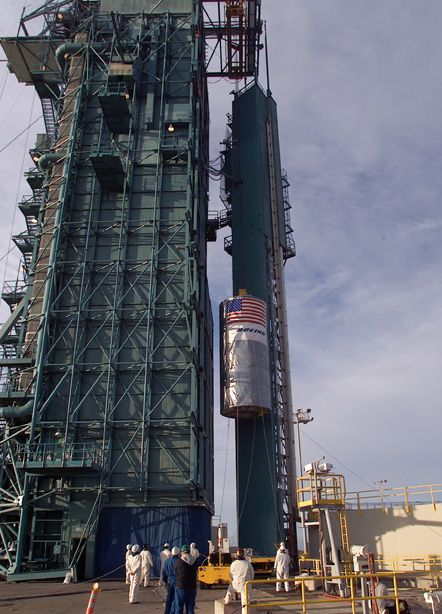 Launch preparations are progressing! (11/21/01) Photos: Stacy Mitchell of John Hopkins APL/TIMED project