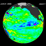 June 2008 Pacific Basin Sea Level Anomalies