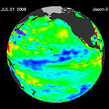 July 2008 Pacific Basin Sea Level Anomalies