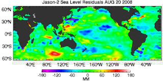 August 2008 Global Sea Level Anomalies