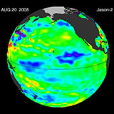 August 2008 Pacific Basin Sea Level Anomalies