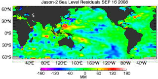 September 2008 Global Sea Level Anomalies