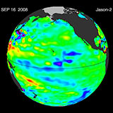 September 2008 Pacific Basin Sea Level Anomalies