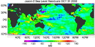 October 2008 Global Sea Level Anomalies