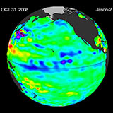 October 2008 Pacific Basin Sea Level Anomalies
