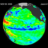 November 2008 Pacific Basin Sea Level Anomalies