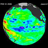 February 2009 Pacific Basin Sea Level Anomalies