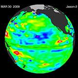 March 2009 Pacific Basin Sea Level Anomalies