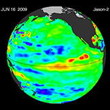 June 2009 Pacific Basin Sea Level Anomalies