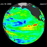 July 2009 Pacific Basin Sea Level Anomalies