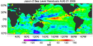 August 2009 Global Sea Level Anomalies