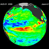 August 2009 Pacific Basin Sea Level Anomalies