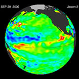 September 2009 Pacific Basin Sea Level Anomalies
