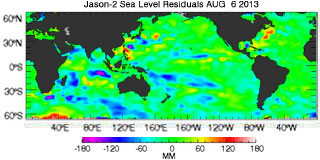 Latest jason data from: 08/06/2013