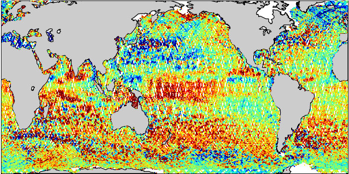 Sea Surface Height Anomaly: SARAL and Jason-2 Measurements from 17-Feb-2015 to 27-Feb-2015