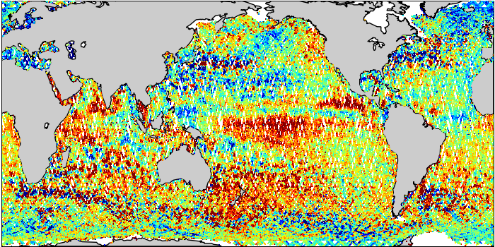 Sea Surface Height Anomaly: SARAL and Jason-2 Measurements from 21-Mar-2015 to 31-Mar-2015