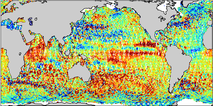 Sea Surface Height Anomaly: SARAL and Jason-2 Measurements from 09-Apr-2015 to 19-Apr-2015