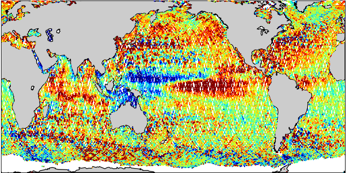 Sea Surface Height Anomaly: SARAL and Jason-2 Measurements from 10-Aug-2015 to 20-Aug-2015
