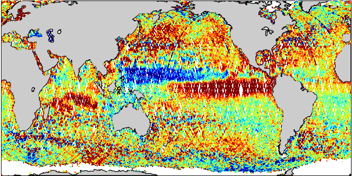 Sea Surface Height Anomaly: SARAL and Jason-2 Measurements from 16-Nov-2015 to 25-Nov-2015