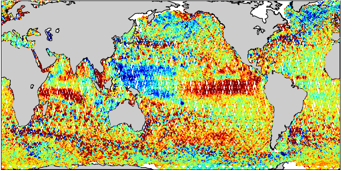 Sea Surface Height Anomaly: SARAL and Jason-2 Measurements from 30-Jan-2016 to 08-Feb-2016