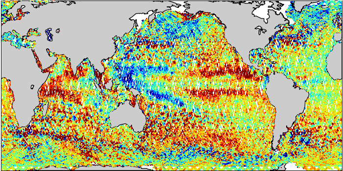 Sea Surface Height Anomaly: SARAL and Jason-2 Measurements from 23-Feb-2016 to 03-Mar-2016