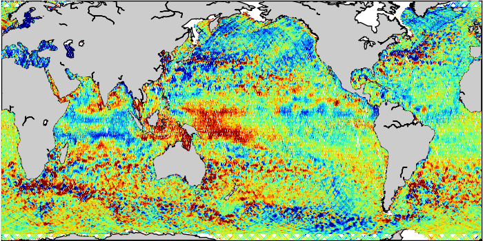 Sea Surface Height Anomaly: SARAL, Jason-2 and Jason-3 Measurements from 15-Feb-2017 to 25-Feb-2017