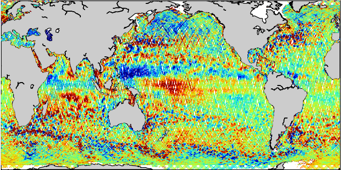 Sea Surface Height Anomaly: SARAL, Jason-2 and Jason-3 Measurements from 06-Jan-2019 to 16-Jan-2019