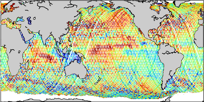 Sea Surface Height Anomaly: SARAL, Jason-2 and Jason-3 Measurements from 05-Sep-2019 to 15-Sep-2019