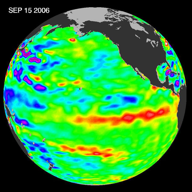 Read news item: Jason Satellite Observes Mild El Niño in 2006