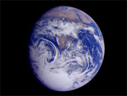 Earth - taken by the Galileo spacecraft.