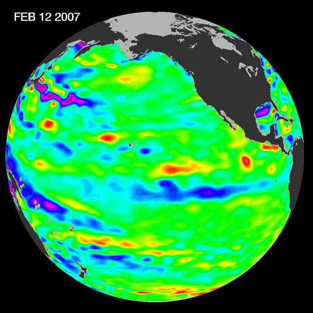 Read news item: Pacific Shows Signs of Morphing From Warm El Niño To Cool La Niña