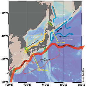 Variations of sea surface height and flow fields in the western North Pacific and surrounding marginal seas