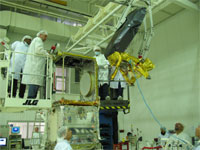 JPL's Advanced Microwave Radiometer is being integrated on the PROTEUS Platform Payload Instrument Module.