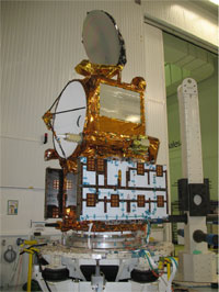 The fully integrated OSTM/Jason-2 spacecraft is ready for further testing.