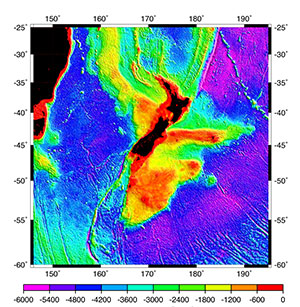 High-resolution seafloor topography estimated by combination of ancillary radar altimeter data sets