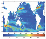 Image to support 'Applications of Satellite Altimetry, Gravity, Winds and In Situ Data to Problems of the Ocean Circulation'