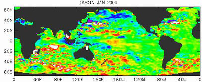 Global Sea Surface Height Data - 01/2004