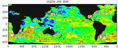 Global Sea Surface Height Data - 01/2005