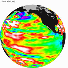 Global Sea Surface Height Data - 2003