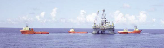 Offshore oilfield operational support: Gulf of Mexico Image