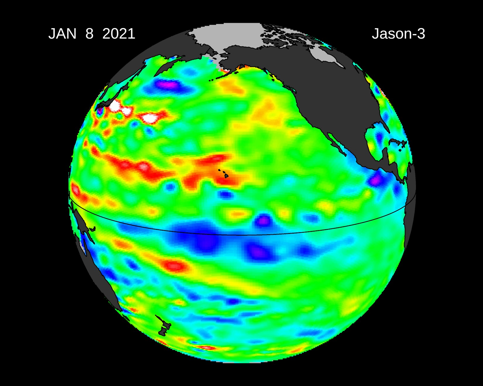Stereographic image depicting el nino data