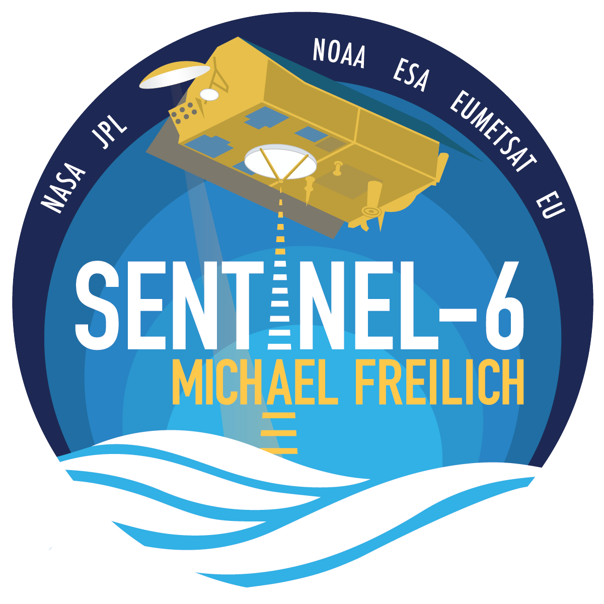 Sentinel-6 Michael Freilich spacecraft logo